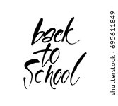 back to school. hand drawn...   Shutterstock .eps vector #695611849
