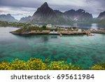 moskenes lofoten norway   Shutterstock . vector #695611984