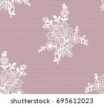 seamless floral lace pattern ... | Shutterstock .eps vector #695612023