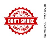 don't smoke grunge rubber stamp.... | Shutterstock .eps vector #695612758