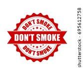 don't smoke grunge rubber stamp.... | Shutterstock .eps vector #695612758