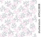 coral seamless pattern   Shutterstock .eps vector #695613808