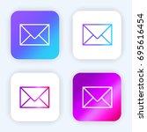 envelope bright purple and blue ...
