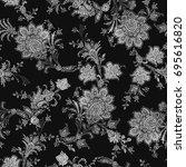 chintz seamless pattern   Shutterstock . vector #695616820