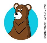 bear brown grizzly avatar icon. ...