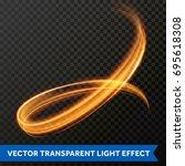 light line gold circle swirl... | Shutterstock .eps vector #695618308