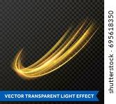 vector light effect of gold... | Shutterstock .eps vector #695618350