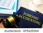 book with title forensic... | Shutterstock . vector #695620564