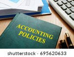 book with title accounting... | Shutterstock . vector #695620633