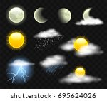 sky elements   realistic modern ...   Shutterstock .eps vector #695624026