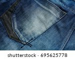 Blue Jeans Back Pocket For...