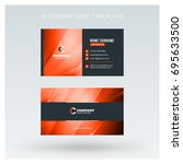 creative and clean double sided ... | Shutterstock .eps vector #695633500