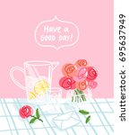 have a good day  vector... | Shutterstock .eps vector #695637949