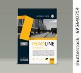 cover design  corporate... | Shutterstock .eps vector #695640754
