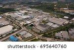 aerial view  industrial zone of ... | Shutterstock . vector #695640760
