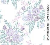 elegant seamless pattern with...   Shutterstock .eps vector #695645200