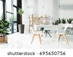 interior of beautiful modern... | Shutterstock . vector #695650756