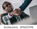 african american businessmen... | Shutterstock . vector #695652598