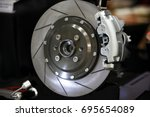 brake disc car | Shutterstock . vector #695654089