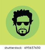 man hipster vector | Shutterstock .eps vector #695657650