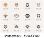 geometric logo template set.... | Shutterstock .eps vector #695661400