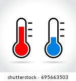 illustration of cold and hot... | Shutterstock .eps vector #695663503