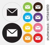 email icon   vector | Shutterstock .eps vector #695664850
