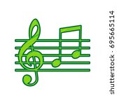 music violin clef sign. g clef... | Shutterstock .eps vector #695665114