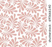 vector seamless pattern with... | Shutterstock .eps vector #695666140