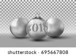 shiny glass transparent... | Shutterstock .eps vector #695667808