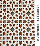 Small photo of Pattern background : islamic pattern on a mosque wall