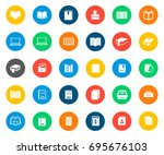 book icons in colorful circles | Shutterstock .eps vector #695676103