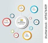 net  molecule structure with... | Shutterstock .eps vector #695676409