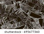 hand drawn seamless background... | Shutterstock .eps vector #695677360