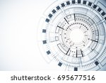 abstract white digital button... | Shutterstock . vector #695677516
