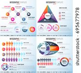 infographics design template... | Shutterstock .eps vector #695677978