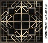 vector geometric ornament in... | Shutterstock .eps vector #695686510