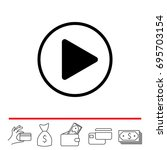 play button web icon. vector... | Shutterstock .eps vector #695703154