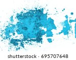 blue eye shadow  powder... | Shutterstock . vector #695707648