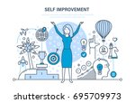 self improvement. self... | Shutterstock .eps vector #695709973