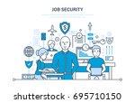job security concept. data... | Shutterstock .eps vector #695710150