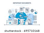 important documents concept.... | Shutterstock .eps vector #695710168