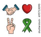 symbols peace for international ... | Shutterstock .eps vector #695713090