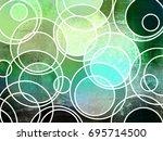 abstract geometric grunge... | Shutterstock . vector #695714500
