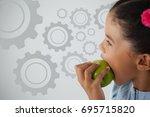 digital composite image of... | Shutterstock . vector #695715820