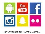 valencia  spain   august 01 ... | Shutterstock . vector #695723968