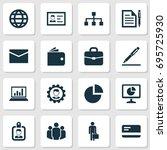 business icons set. collection... | Shutterstock .eps vector #695725930