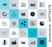 set of graphs  diagrams and... | Shutterstock .eps vector #695726278