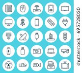 device icons set. collection of ... | Shutterstock .eps vector #695728030