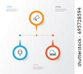 multimedia icons set....   Shutterstock .eps vector #695728594